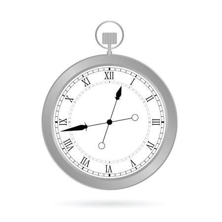 silver: clock silver vector illustration Illustration