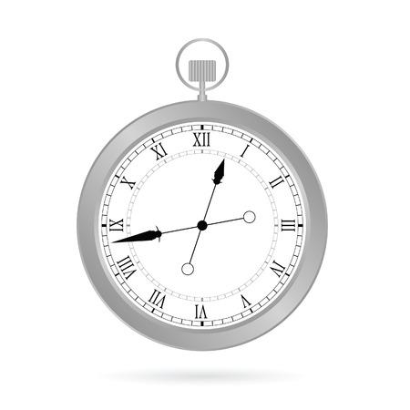 watch movement: clock silver vector illustration Illustration