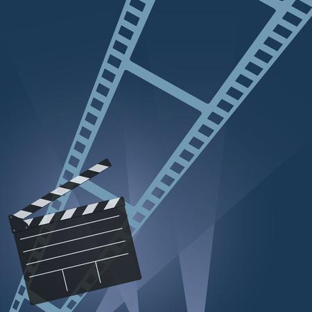 cinta pelicula: vector película de cine en la cinta colorido Vectores