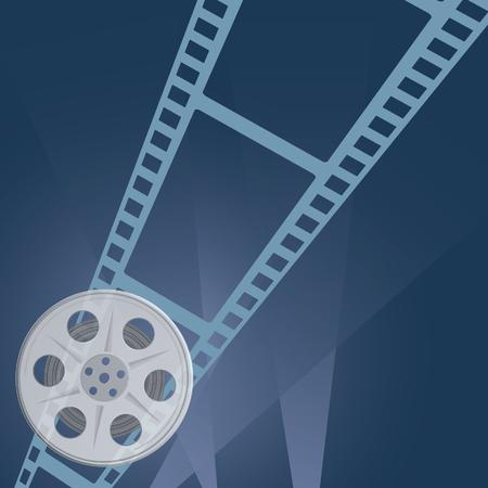 camera film: film tape camera vector illustration Illustration