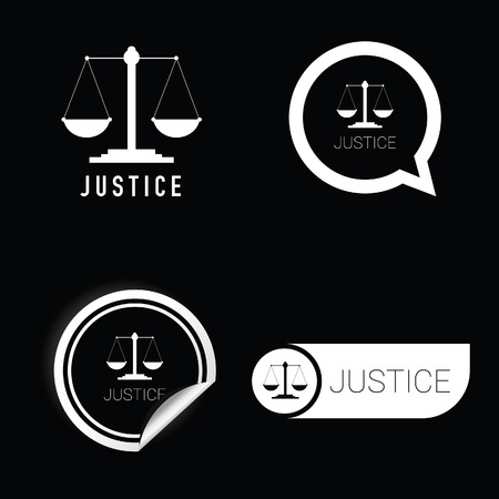 conviction: justice vector icon black and white color