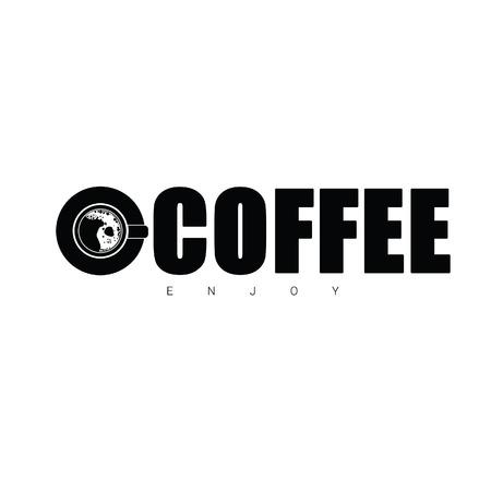 enjoy: coffee enjoy sign vector in black color Illustration