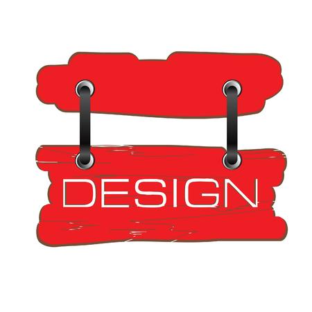 signboard design: design signboard vector in red color