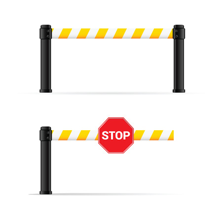 toll booth vector on road safety illustration
