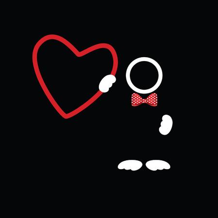 Icône coeur icône vecteur homme coloré Vecteurs