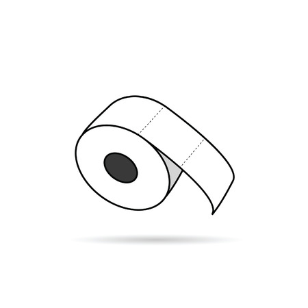 watercloset: toilet paper roll vector in white color