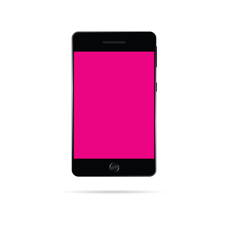 touchphone: mobile phone vector in pink color