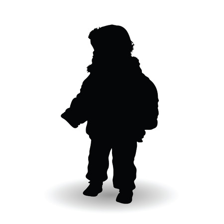 playful: child standing happy illustration playful silhouette