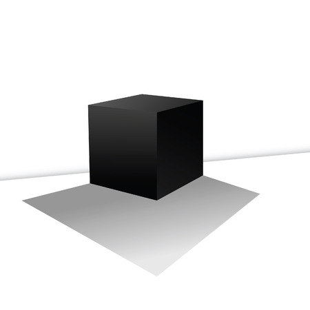 cube box: cube box illustration on a white
