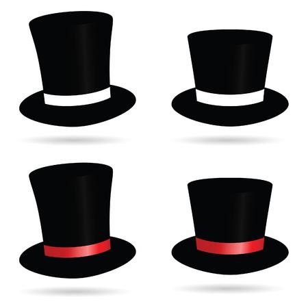 hat cylinder illustration in color