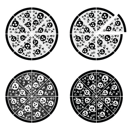 tasty: pizza set italy tasty illustration