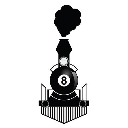 bola ocho: entrenar con ocho ilustraci�n pelota en negro
