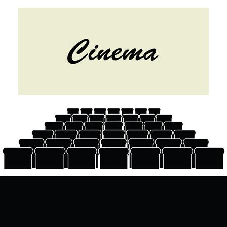 auditorium: cinema color auditorium illustration