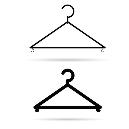clothes hangers: clothes hangers illustration in black