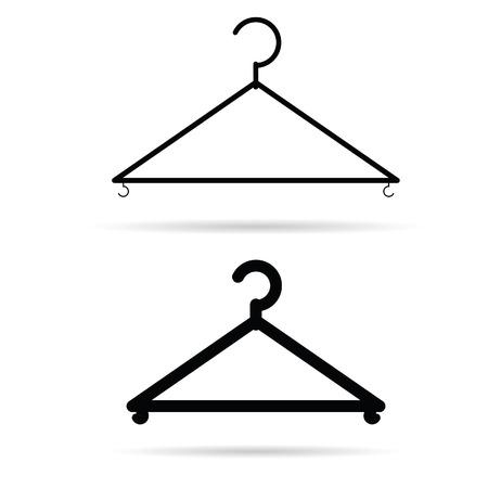 kleerhangers illustratie in zwart