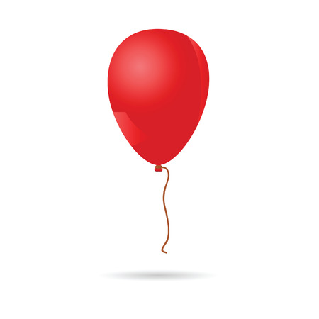 baloon: baloon red illustration on white background