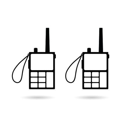 walkie talkie: walkie talkie illustration in black color
