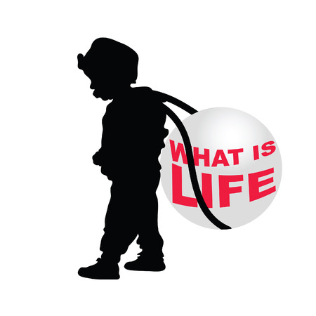 cute baby girls: child holding ball illustration silhouette Illustration
