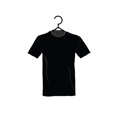 t shirt printing: t-shirt black cotton illustration