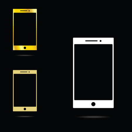 mobile phone icon: mobile phone icon illustration in colorful