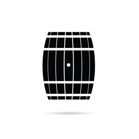 wood creeper: barrel illustration in black color Illustration