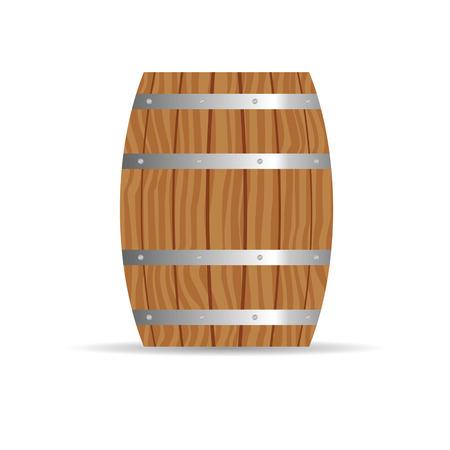 wood creeper: barrel icon in brown color illustration Illustration