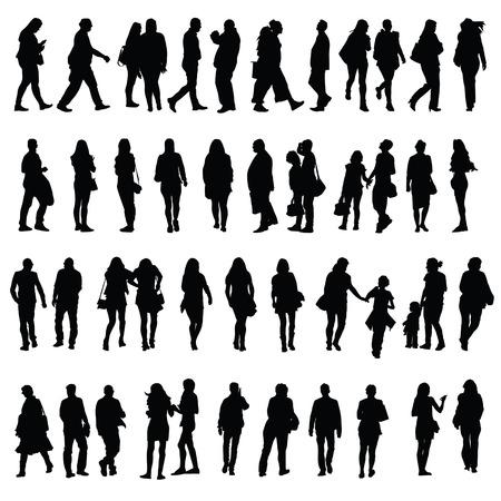 black people: people silhouette illustration in black color