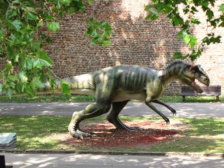 rex: dinosaur Tyrannosaurus Rex with tree