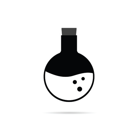 crucible: crucible chemistry in black and white color illustration Illustration