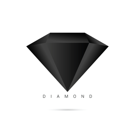 shiny icon: diamond brilliant shiny icon object illustration on white Illustration