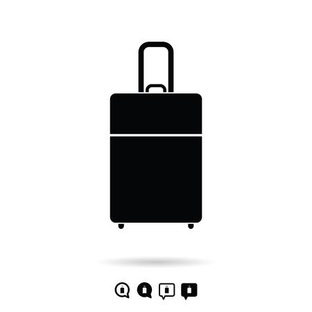 voyager: travel bag vacation set in black and white color illustration