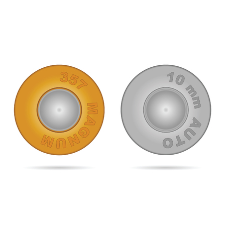 arsenal: bullet in gold and silver color art illustration Illustration