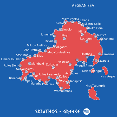 Peninsula Of Halkidiki In Greece White Map Art Illustration Royalty