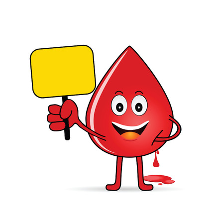 compatibility: blood group icon with drop illustration in colorful