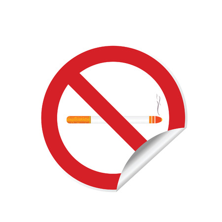 toxic substance: No smoking sign abuse sticker illustration in red color Illustration