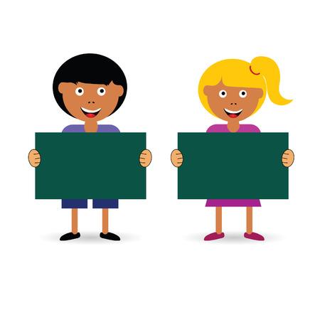 カラフルな子供の漫画イラスト  イラスト・ベクター素材