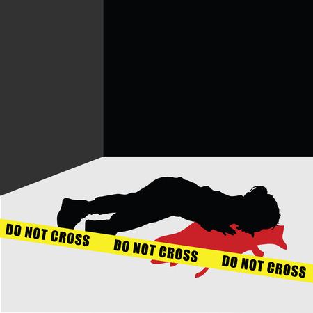 child silhouette murder violence illustration Illusztráció