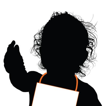 Happy Child silhouette art illustration