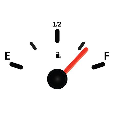 gas meter art illustration