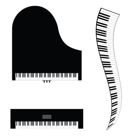 Шаблоны рояля из мастики, картинка днем рождения
