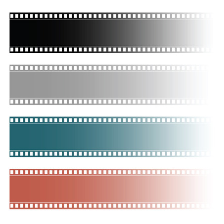 Film tape roll set illustration