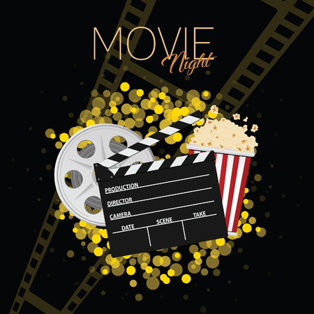 Cinema and movie night illustration Illustration
