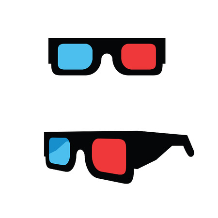 3D movie glasses Illustration