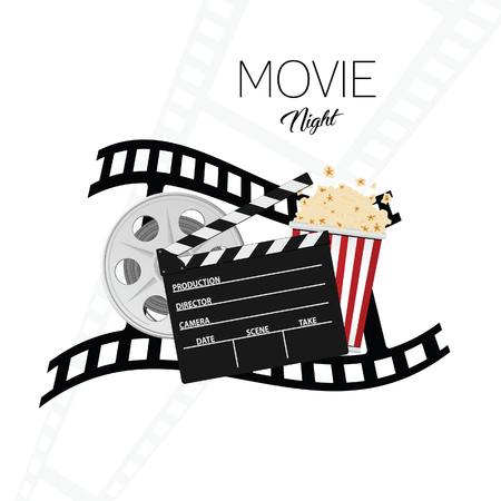 Cinema and movie night illustration Vectores
