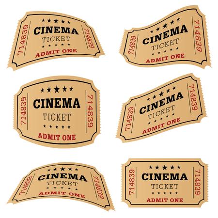 cinema ticket movie set art illustration Illustration