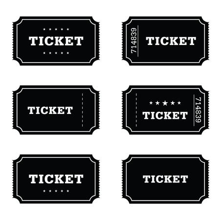 ticket movie set art illustration