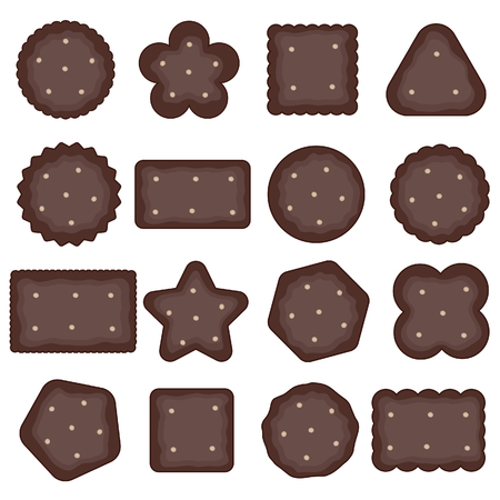 cookies chocolate with hazelnut sweet art illustration