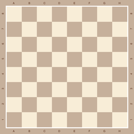chess board in brown wooden background illustration