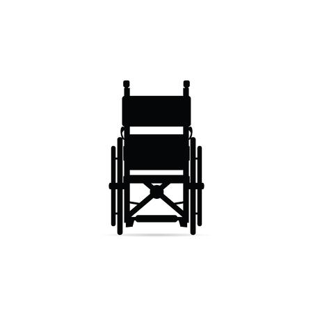 wheelchair  in black color Vector illustration.
