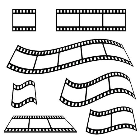 film strip vector and film strip flag illustration